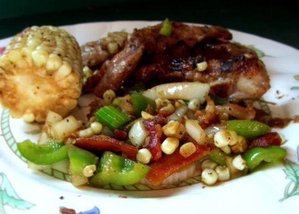 Maple-Glazed Pork Chops With Roasted Corn Relish Recipe - Food.com