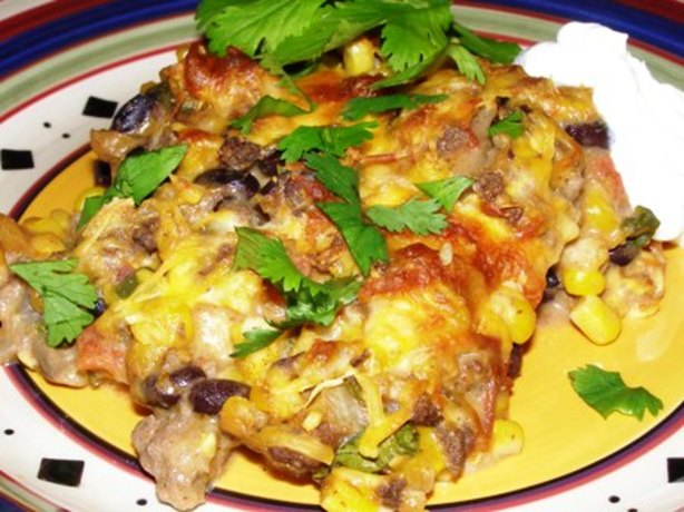 Beef Enchilada Casserole Recipe Food Network
