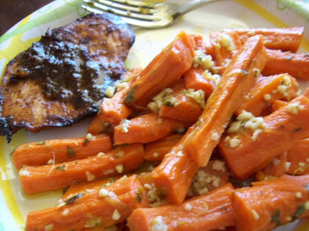 Steamed Carrots With Garlic-Ginger Butter Weight Watcher Friend Recipe ...