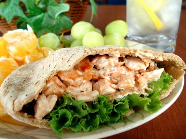 Grilled Buffalo Chicken Salad Sandwiches Or Pitas Recipe Food Com