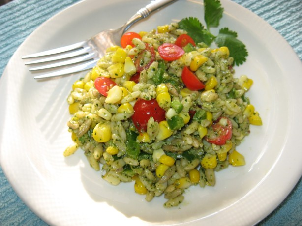 Roasted Corn And Orzo Salad With Cilantro Pesto Recipe - Food.com