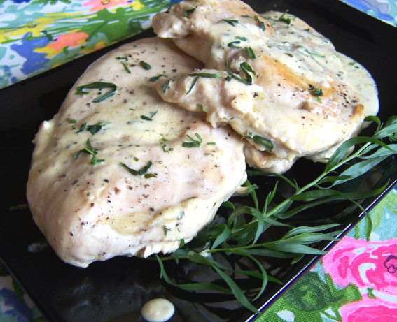 Chicken Breasts With Fresh Tarragon- Dijon Mustard Pan Sauce Recipe ...