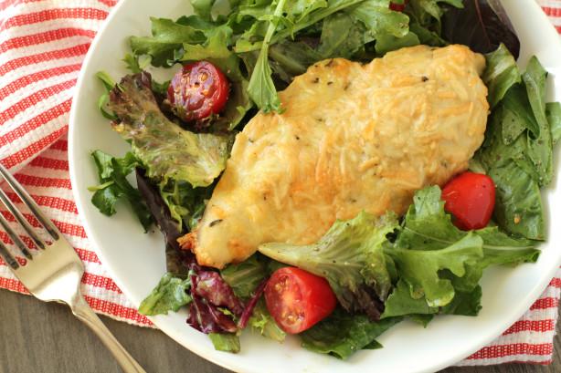 Parmesan-Crusted Chicken With Arugula Salad Recipe - Food.com