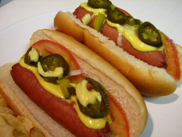 Beer Steamed Hot Dogs