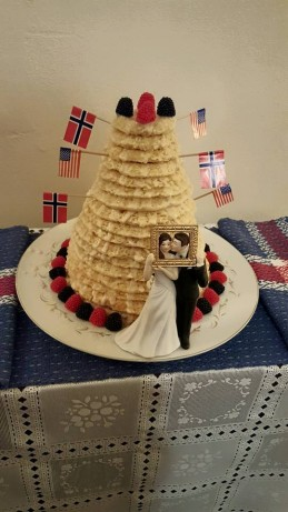 Kransekake 18 Layer Norwegian Wedding Cake Recipe Food Com