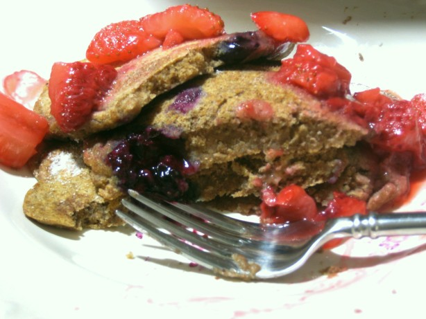 Whole Wheat Vegan Berry Spice Pancakes For One Recipe - Low ...