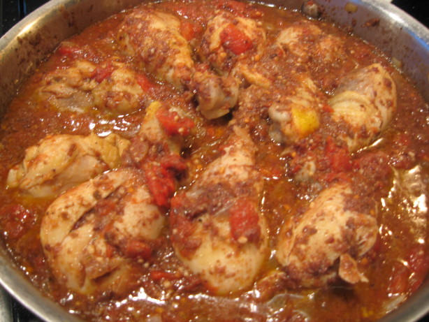 Braised Chicken Legs With Olives And Tomatoes Recipe - Food.com
