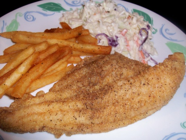 Cornmeal crusted oven fried catfish ww core recipe for Cornmeal fried fish