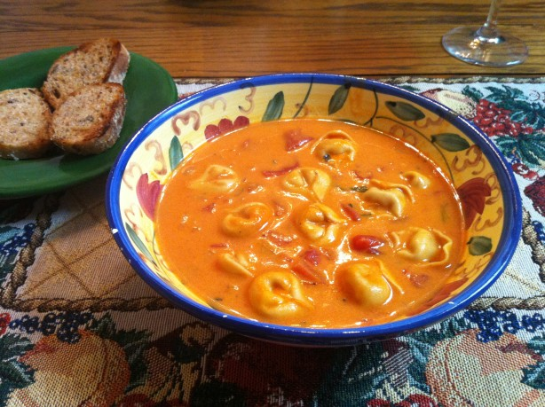 Creamy tomato basil tortellini soup recipe food com