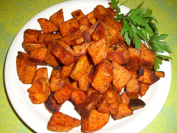 Spicy Chipotle-Cinnamon Roasted Sweet Potatoes Recipe - Food.com