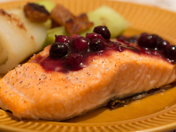 Grilled Salmon With Blueberry Sauce Recipe - Food.com