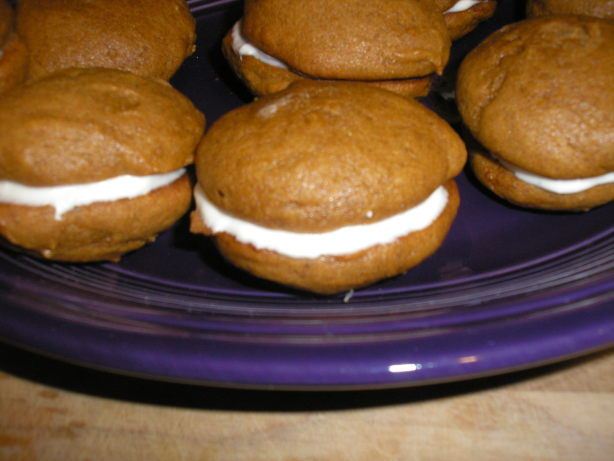 Pumpkin Whoopie Pies With Cream-Cheese Filling Recipe - Food.com