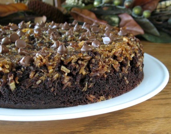 Upside Down Chocolate Chip Cake Recipe Food Com
