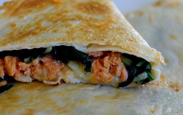 Salmon quesadilla food network