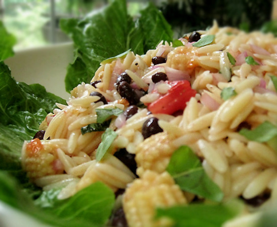 Orzo Salad With Basil And Tomatoes Recipe — Dishmaps