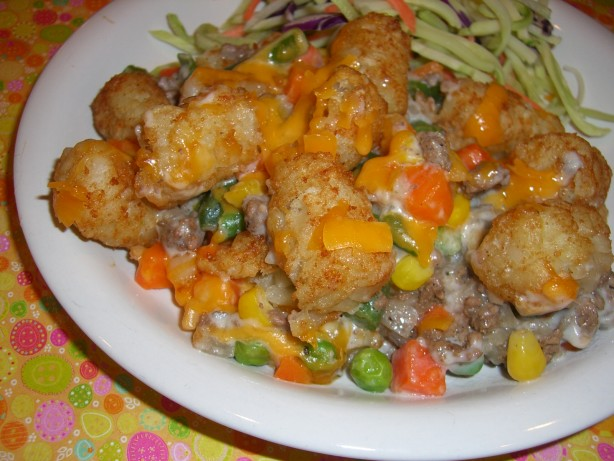 Tater Tot Casserole With Veggies Recipe Food Com