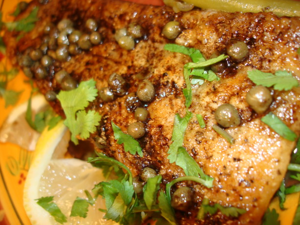 Fish with lemon butter caper sauce recipe for Lemon butter caper sauce for fish