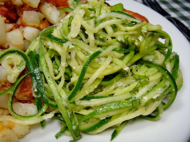 raw zucchini ribbons with parmesan raw zucchini ribbons with parmesan ...