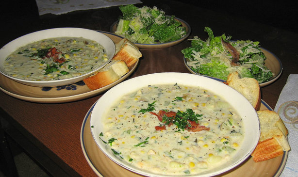 New England Clam And Corn Chowder With Herbs Recipe - Food.com