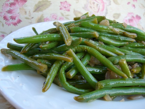 haricots verts with shallots and lemon recipe. Black Bedroom Furniture Sets. Home Design Ideas