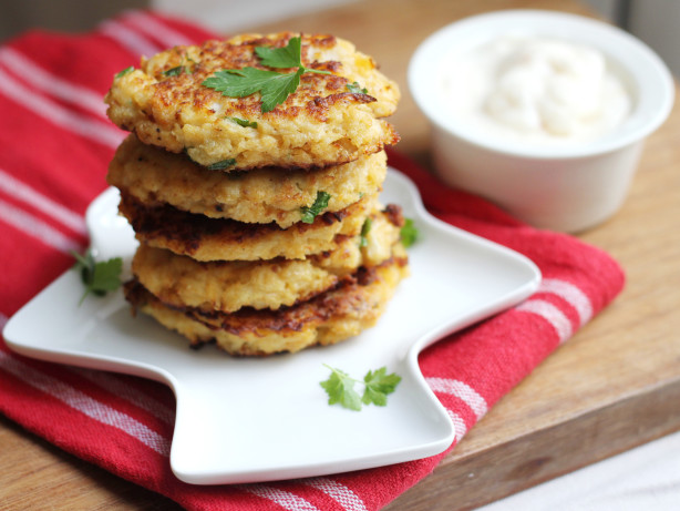 Spicy Cauliflower Latkes With Za'atar Aioli