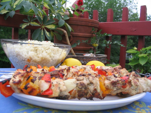 Easy Lemon Garlic Chicken Kabobs Recipe - Food.com