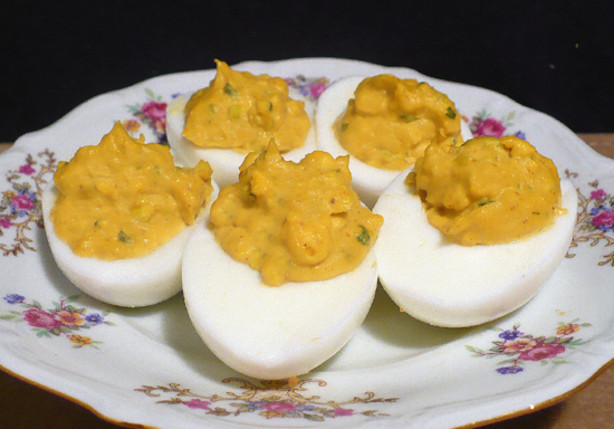 Mango curry deviled eggs recipe for Table 52 deviled eggs recipe