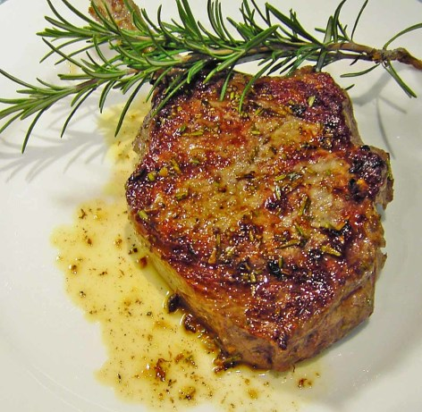 pan seared veal chops with rosemary recipe