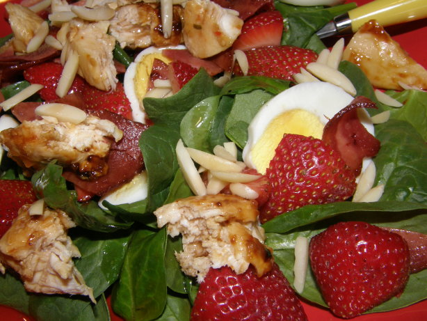 Incredible Chicken Strawberry Spinach Salad Recipe - Food.com