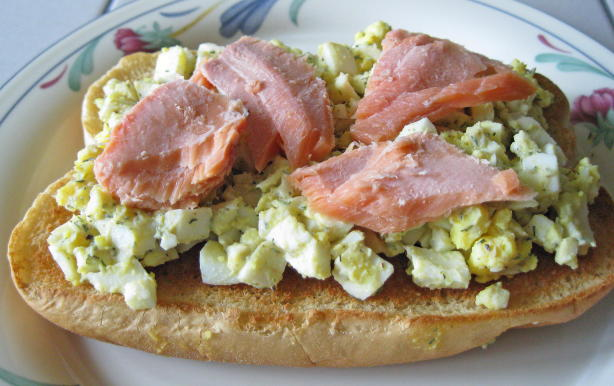 Smoked Salmon And Egg Salad Tartines Recipe - Food.com