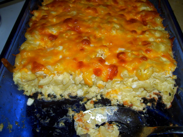 Baked Macaroni Pie With Cottage Cheese Recipe Food Com