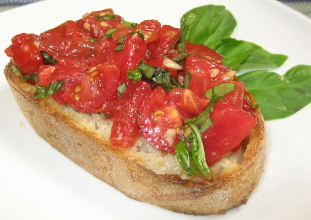 Bruschetta With Tomatoes And Basil Recipe - Food.com