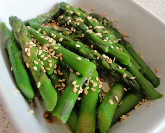 how to cook asparagus with sesame seeds