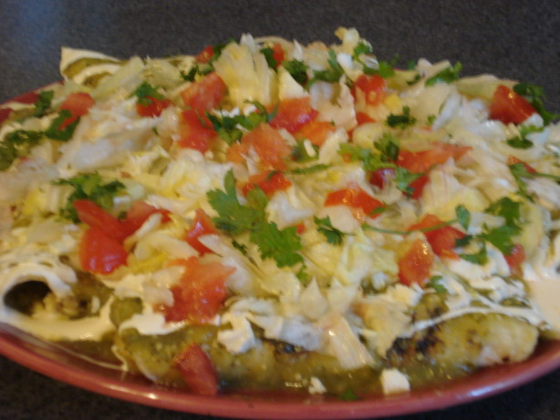 Enchiladas Verde Recipe - Mexican.Food.com