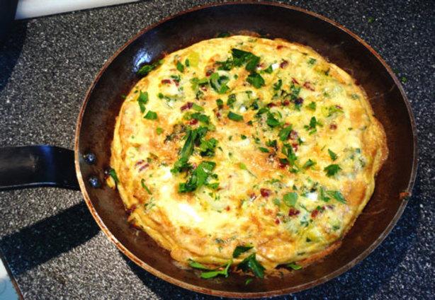 Leek And Sun-Dried Tomato Frittata Recipe - Breakfast.Food.com