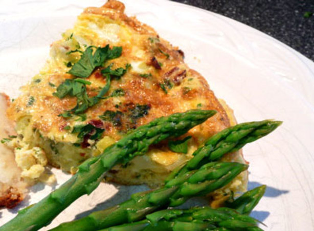Leek And Sun-Dried Tomato Frittata Recipe - Breakfast.Food.com
