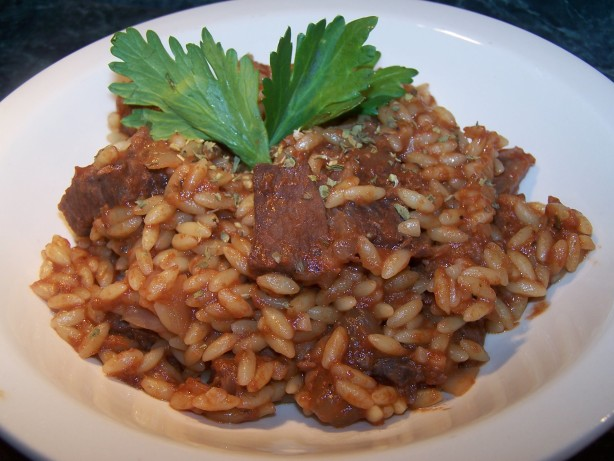 Steak And Orzo In Tomato-Oregano Sauce Recipe - Food.com