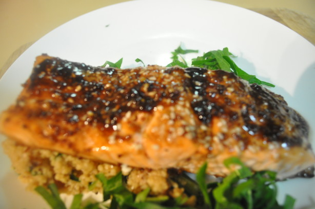 Oven Roasted Salmon With Balsamic Sauce Recipe Food Com