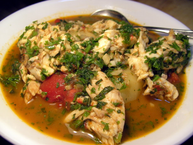 Tunisian fish stew with potatoes recipe for Fish stew with potatoes