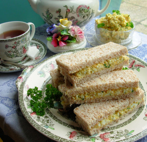 Dainty Egg And Chive Tea Sandwiches For Tea Time Recipe