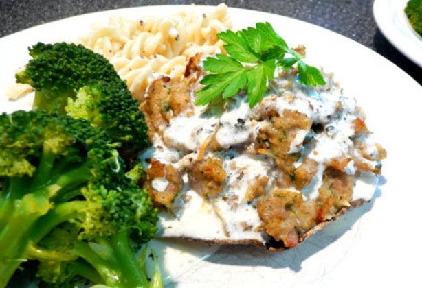 Italian Sausage Stuffed Portobello Mushrooms With Herb Parmesan Recipe ...