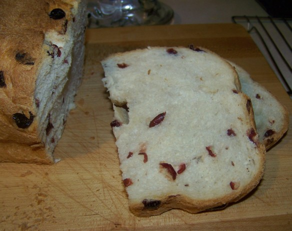 cranberry bread machine recipe