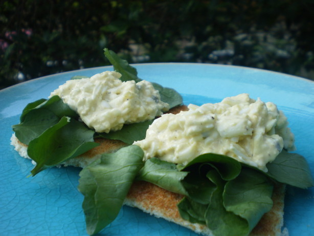 open faced egg bacon watercress sandwich open faced egg sandwich