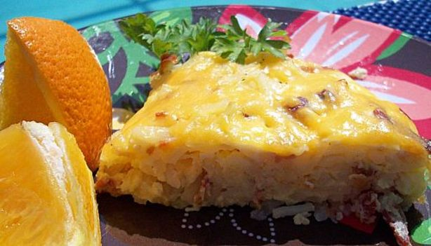 how to make egg bake with hash browns