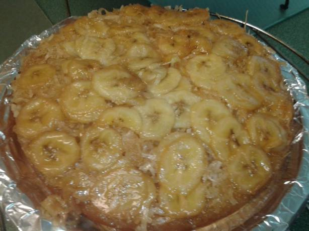 Banana Coconut Upside Down Cake Recipe - Food.com