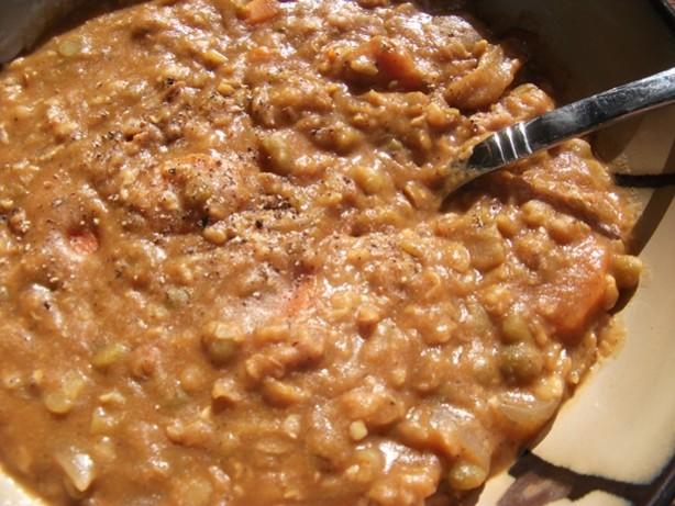 Thai Twist Slow Cooker Vegetarian Split Pea Soup RecipeFood.com