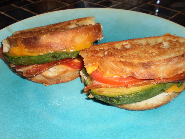 Grilled Cheddar, Bacon, And Avocado Sandwiches Recipe ...