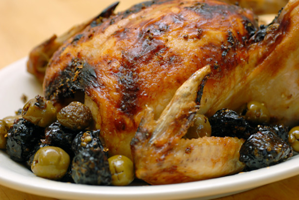 Roasted Chicken With Olives And Prunes Chicken Marbella) Recipe - Food ...
