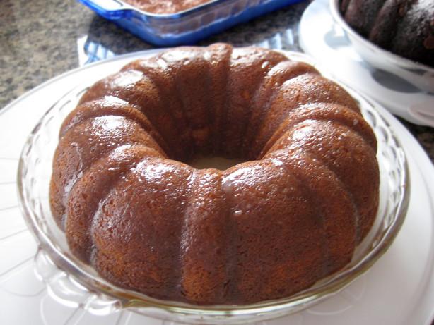 Chocolate Rum Glaze Cake