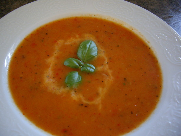 red pepper soup recipe healthy